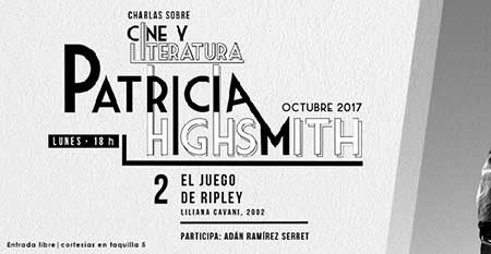 Charla Cine y Literatura: Patricia Highsmith
